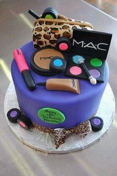 Mac makeup cake!
