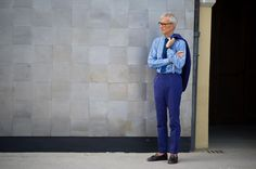 Street Style: Swagger and Blues at Pitti Uomo - SS14