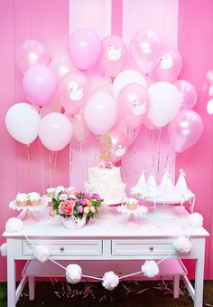"""Dreamy, charming, magical... theseare just a few of the words I could use to describe this darling """"Sweet on Swans"""" inspired birthday party! Styled b"""