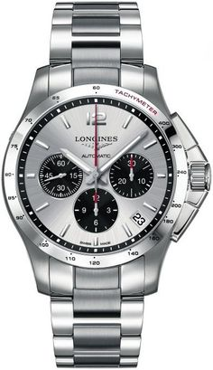 Longines Watch Conquest Gents #bezel-fixed #bracelet-strap-steel #brand-longines #case-material-steel #case-width-44mm #chronograph-yes #date-yes #delivery-timescale-1-2-weeks #dial-colour-silver #gender-mens #luxury #movement-automatic #official-stockist-for-longines-watches #packaging-longines-watch-packaging #style-dress #subcat-conquest #supplier-model-no-l3-697-4-06-6 #warranty-longines-official-2-year-guarantee #water-resistant-50m