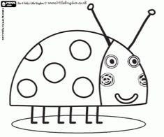 The ladybug Gaston coloring page