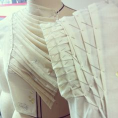 Fabric Manipulation for fashion design - structured pleats; dimensional surface pattern creation; moulage; couture sewing techniques