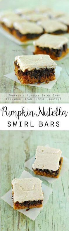Pumpkin Nutella Swir Pumpkin Nutella Swirl Bars https://www.pinterest.com/pin/111675265743381785/