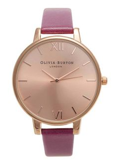 Olivia Burton watch in rose gold and berry! Spot on trend for A/W13.