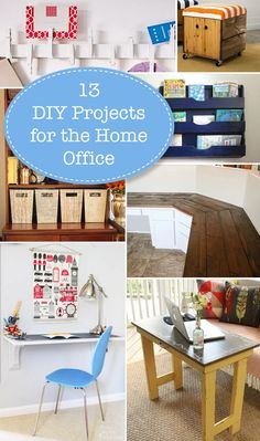 Here are 13 easy, inexpensive, and practical projects to help you get your home office set up. | Pretty Handy Girl | #prettyhandygirl #wfh #workfromhome #homeoffice #diyhomeoffice #homeofficeinspo #homeofficedesign