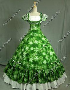 Elizabeth market dress:  Victorian Civil War Period Dress Ball Gown Reenactment Clothing Theatre Wear