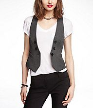 MARLED TWEED FAUX DOUBLE BREASTED VEST