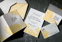 Stunning Sustainable Letterpress Wedding Invitations