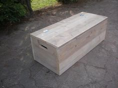 Speelgoedkist steigerhout