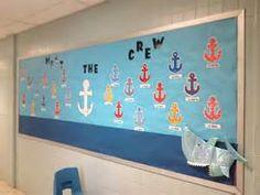 Nautical theme classroom bulletin board for September | Nautical ...