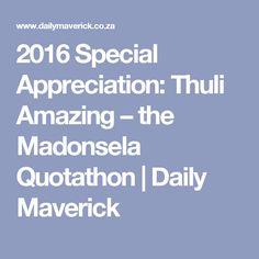2016 Special Appreciation: Thuli Amazing – the Madonsela Quotathon | Daily Maverick