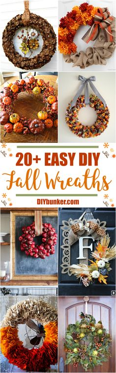 These 22 Fall Wreath DIY Ideas Are Super CUTE! I love how much money you can save by making your own wreaths. Did I mention how fun it is too?