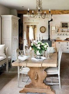 Stunning Fancy French Country Dining Room Decor Ideas 11