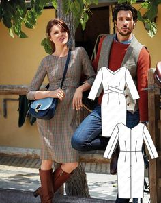 Brit Chic: 12 New Women and Men's Patterns Modern Sewing Patterns, Clothing Patterns, Dress Patterns, Pattern Dress, Fashion Sewing, Diy Fashion, Fashion Dresses, Womens Fashion, Coin Couture