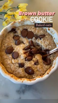 Healthy Baking, Healthy Desserts, Healthy Recipes, Healthy Midnight Snacks, Healthy Cookie Dough, Healthy Food, Fun Baking Recipes, Snack Recipes, Brown Butter Cookies