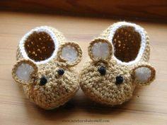 Crochet Baby Booties Crochet Pattern (PDF file) Little Fieldmouse Baby Shoes...