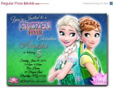 Hey, I found this really awesome Etsy listing at https://www.etsy.com/listing/227537951/sale-frozen-fever-birthday-invitation