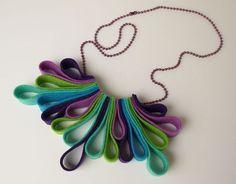 Felt necklace: