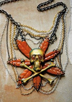 glam halloween necklace