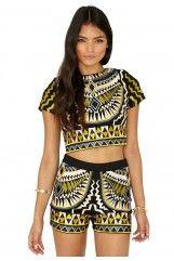 Ameliana Premium Aztec Embroidered Shorts