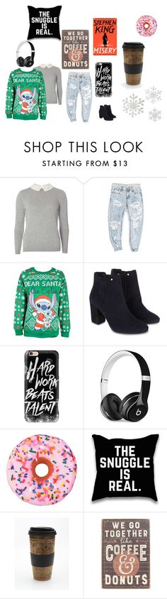 """Ugly Sweater Weather"" by xswitchlanezzx on Polyvore featuring Dorothy Perkins, OneTeaspoon, Disney, Monsoon, Casetify, Beats by Dr. Dre, Iscream, Free People and Primitives By Kathy"