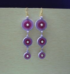 Two coloured Long hanging earrings Hanging Earrings, Drop Earrings, Color, Jewelry, Fashion, Quilling, Colour, Jewlery, Moda