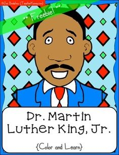 {FREEBIE} Martin Luther King, Jr. Color & Learn Pages ~ So
