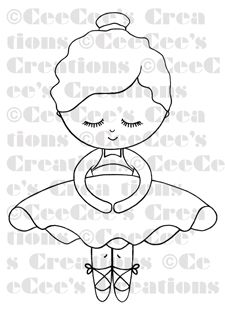 CeeCee's Creations: Lil' Cee Ballerina -- offering my first ever digi stamp!