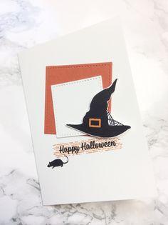 Das Thema heute bei unserer #33tagestempelchallenge ist 'Motivstempel'. Aber was bitte ist ein Motivstempel?  Ich jedenfalls habe mich für den Hexenhut aus dem Set Hokuspokus entschieden. Es ist ein Motivstempel, oder ? #ichbinstempeln Stampinup, Halloween, Karten, Idenn, Diy, spooky,