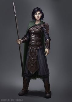Her rates were those of a common sellsword, but she was so much more. #fighter