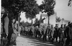 Polish POWs marching through Warlubie, 1939