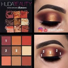 Using Huda Beauty Warm Brown Obsessions ✨ @nikitahhx