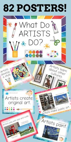 What Do Artists Do Posters
