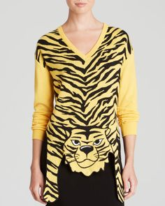 Moschino Cheap And Chic Pullover - Tiger Print