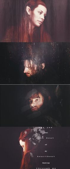 Kili and Tauriel-I don't think that Tauriel and Kili should be together (and don't agree with it) but these pictures are awesome!