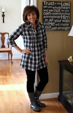 @cyndispivey.com Cute way to combine patterns!What I Wore-My Style