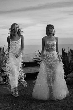 "Taylor Swift & Karlie Kloss in ""On The Road"" for Vogue US, March 2015Photographed by: Mikael Jansson"