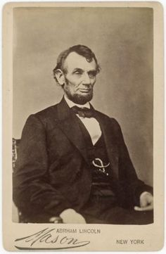 Civil War Era:  Lincoln $5 Bill Pose Fine Cabinet Card O-92. in Collectibles, Photographic Images, Vintage & Antique (Pre-1940), CDVs | eBay