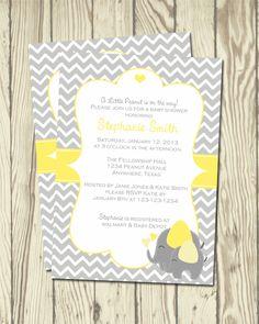 Elephant Baby Shower Invitation. $5.00, via Etsy.
