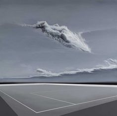 """PREMIO A LA INNOVACIÓN. Fernando Romero Aparicio  """"Nube sobre plano"""". Acrílico y óleo sobre lienzo. 190x190cm. Bmw, Water, Outdoor, Artworks, Pintura, Oil On Canvas, Door Prizes, Clouds, Canvases"""
