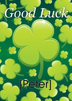 Personalised Good Luck clovers card - Get all your personalised cards and gifts from HelloTurtle