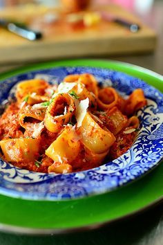 Roasted Red Pepper Pasta, Pioneer Woman . I added 1lb sweet sausage and 2T of tomato paste. Delicious!