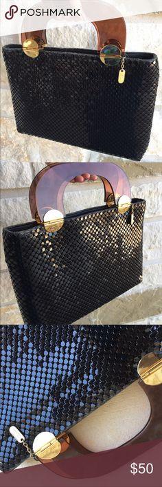 Vintage Lyrella Black Metal Mesh Handbag Amazing Vintage Lyrella Black Metal Mesh Handbag Great Condition  Some wear on top but nothing major Love this bag!! Lyrella Bags