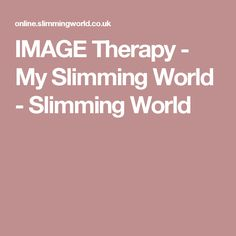 IMAGE Therapy - My Slimming World - Slimming World