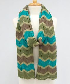 Dress with the best of them in breeze-busting style with this fine scarf. With a look that's ready for a Sunday stroll, this soft scarf is enchanting with its zigzag print. Teal Green, Scarf Styles, Zig Zag, Dress Me Up, Passion For Fashion, Easter Eggs, Crochet Patterns, How To Make, How To Wear