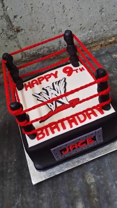 WWE cake to celebrate the little boy's birthday.