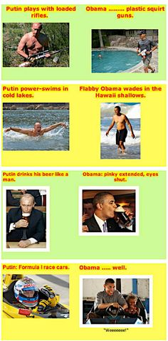 Putin vs Obama... How the foreign press pictures Obama, Embarrassed yet, America.?