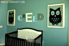 All Things Thrifty Home Accessories and Decor: Baby Boy Nursery Completed!