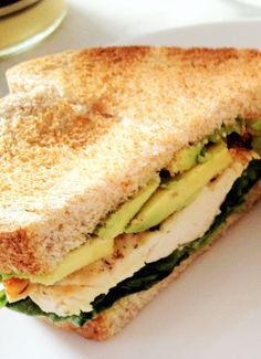 How to Make a Healthy & Yummy Chicken Avocado Sandwich @Christine Smythe nowakowski.. I'm completely on board with this whole avocado business!