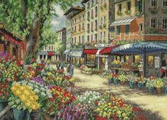 Stickerei-Markt in Paris (Größe)